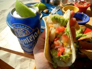 Fish Tacos at Las Palapas, Playa del Carmen